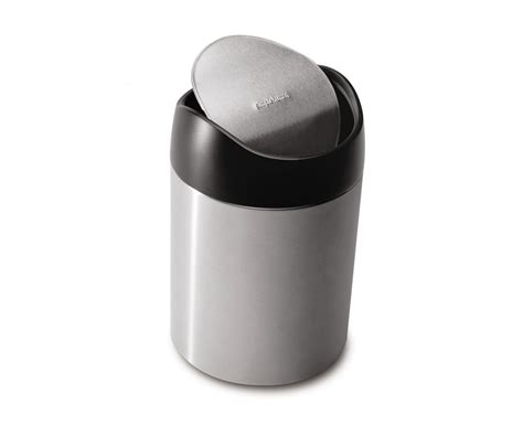 simplehuman countertop trash can small steel
