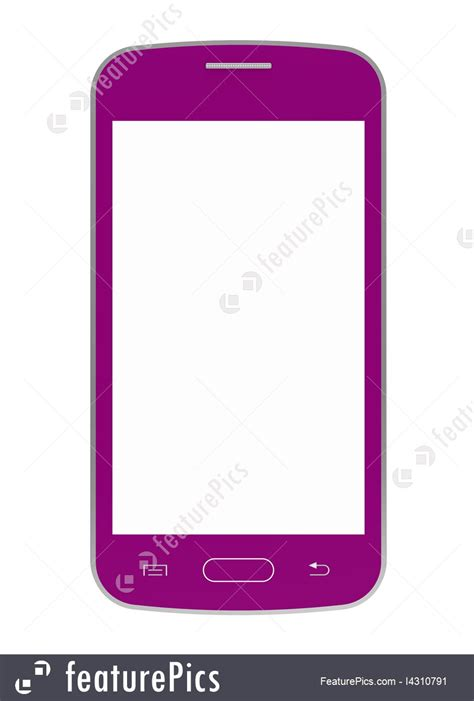 pink mobile phone illustration of pink mobile phone