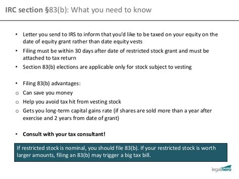 section 83 irc issuing equity to employees and founders stock options