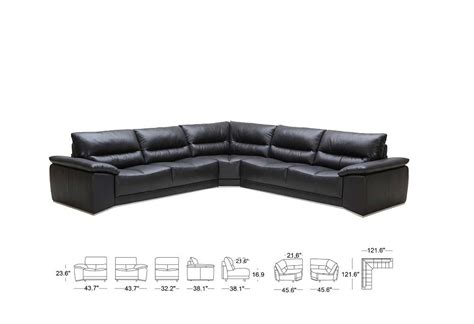 romano black leather sectional sofa leather sectionals