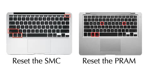 reset nvram smc resetting smc system management controller on a mac