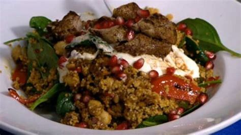 Moroccan lamb salad with chargrilled vegetables and ...