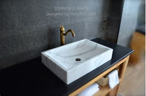 large bathroom sink 22 quot white marble bathroom sink torrence white
