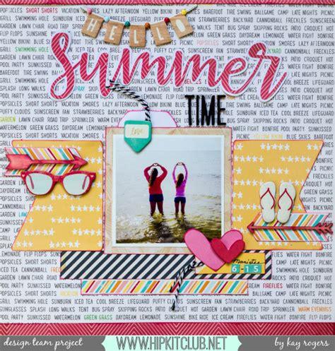 Scrapbook Ideas - 11 great scrapbook ideas for summer hobbycraft