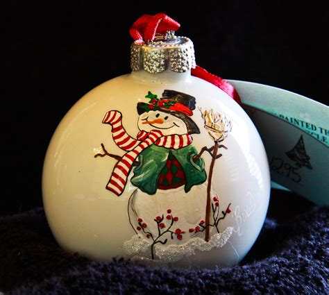 painted christmas balls painted ornament snowman 330 ebay