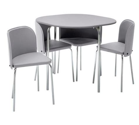 Space Saving Dining Table And 4 Chairs Buy Hygena Aro Space Saving Dining Table 4 Chairs