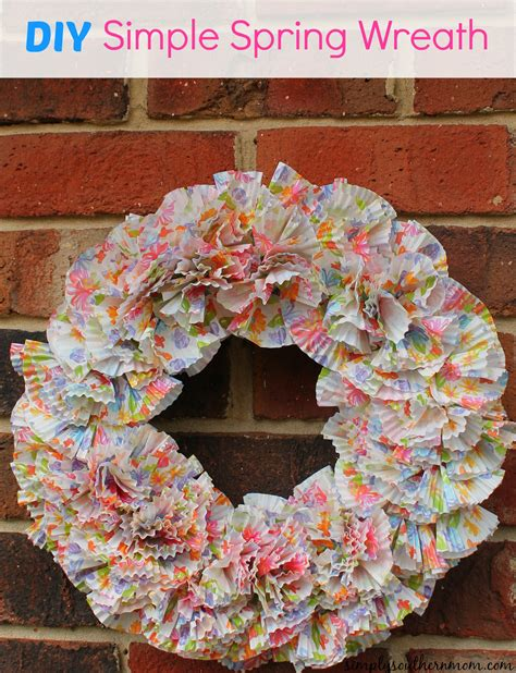 spring diy simple spring wreath craft simply southern mom