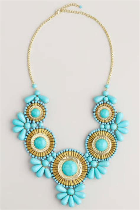 Turquoise Statement Necklace turquoise statement necklace bib necklace
