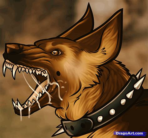 learn how to draw a guard dog pets animals free step by