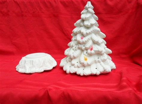 ceramic unpainted large spruce christmas tree wendy s