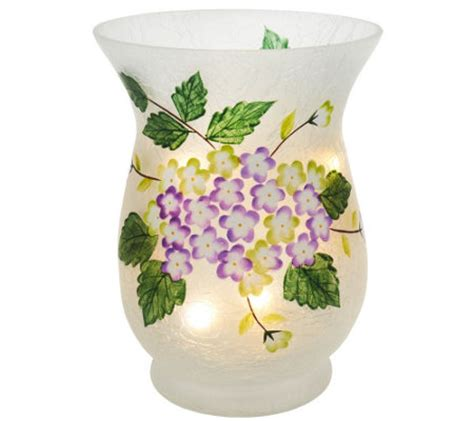 Floral Lights For Vases by Floral Frosted Glass Vase With Micro Lights By Valerie