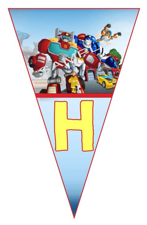 printable transformers birthday banner 56 best images about rescue bots on pinterest coloring