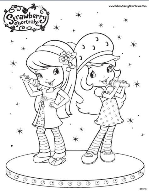 Cherry Jam Coloring Pages the berry strawberry shortcake fan