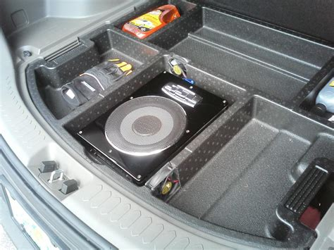 Aktiv Subwoofer Auto 2015 by After Market Compact Sub Install In 2011 Sportage Kia Forum