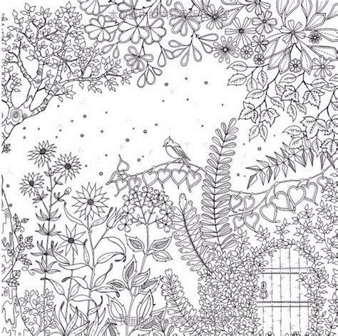 secret garden coloring book markers 259 best images about garden coloring pages on