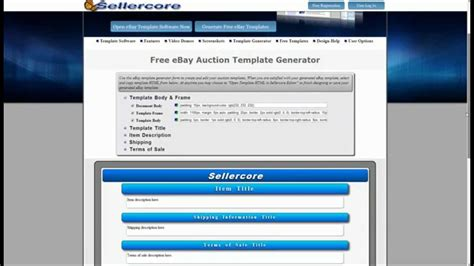 creating an ebay template how to make money on ebay using free generator for html