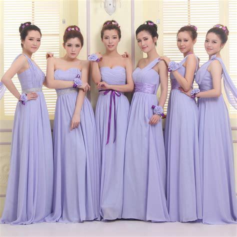 Cgd 2in1 Grey Dress aliexpress buy lavender bridesmaid dresses chiffon formal wedding gown modest