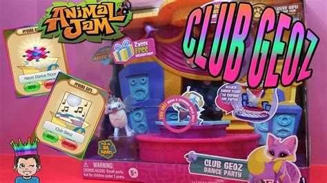 Jam Club 1 animal jam club geoz playset unboxing codes
