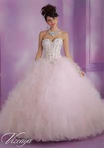 satin and ruffled tulle quinceanera dress with beading style 89005 morilee