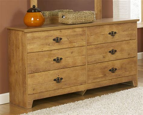 menards bedroom furniture dakota 62 quot prefinished knotty pine 6 drawer dresser at