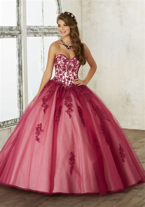 bal gowns tulle quincea 241 era ball gown style 60016 morilee