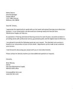 Cover Letter For Cleaning by Sle Cover Letter For Cleaning Best Free Home