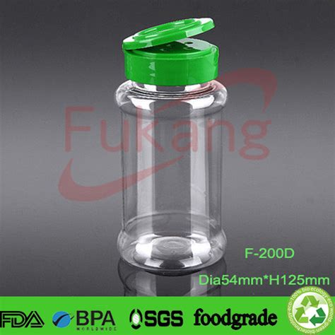 Empty Spice Shakers 200ml Spice Powder Shaker Bottles Empty Airtight Pet