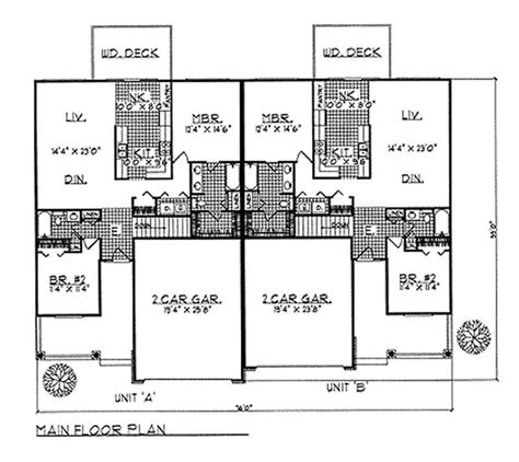 Ranch Multi Unit Home With 2 Bdrms 2600 Sq Ft Floor 2600 Square Foot Ranch House Plans