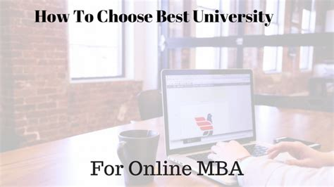 How To Choose The Right Mba Program by How To Choose Best For Mba Distance