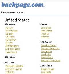 Back Pages Backpage To Suspend Certain Areas Of Personals And
