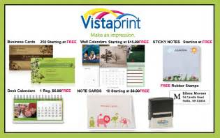 vistaprint free business card vistaprint free notecards st calendar more 171 saved by the sale