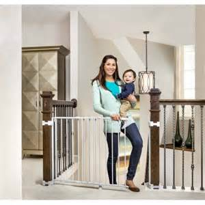 best stair gate for banisters regalo top of stairs baby gate 26 quot 42 quot for banisters or