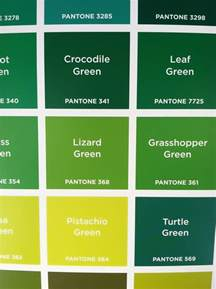 green colors list pantone colors design of the picture book