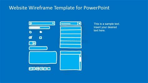 powerpoint wireframe template powerpoint website wireframe elements