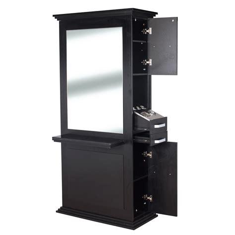 siena double sided salon station  matte black