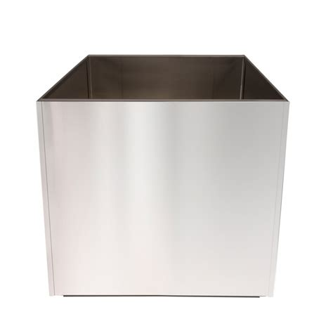 Stainless Steel Planters Stainless Steel 16 Inch Large Planter Square