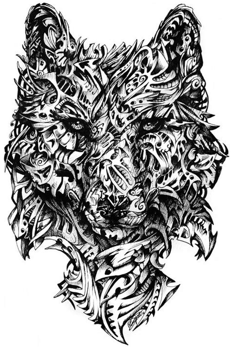 tribal wolf coloring page abstract wolf head art tattoos pinterest grey grey