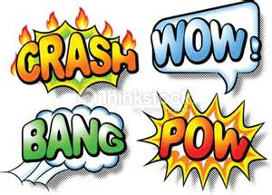 effect bubbles with crash wow bang and pow vector art