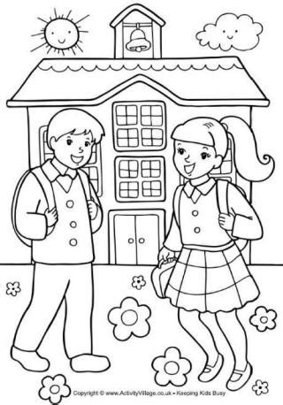 coloring pages for primary school school colouring pages
