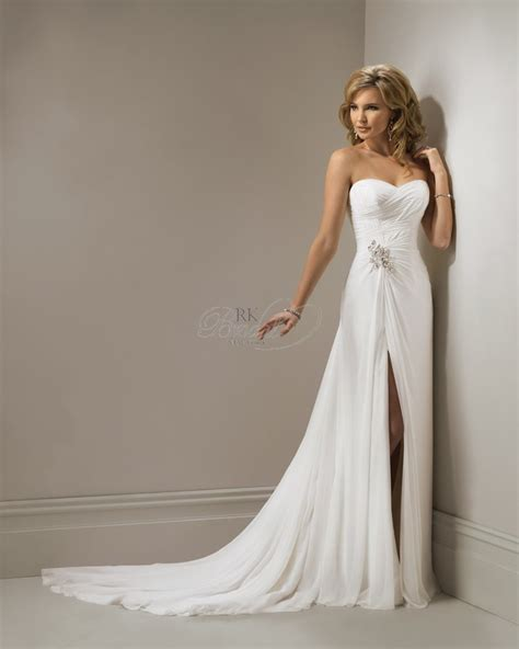 Bridesmaid Dresses With Slits Up The Leg - wedding dress with slits up the leg