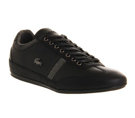 lacoste misano black trainers shoes ebay