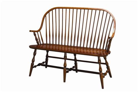 New England Windsor Bench Amish Solid Wood Benches