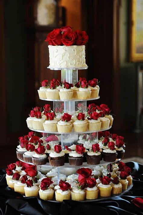 Wedding Cake With Cupcakes by 1000 Ideas About Cupcake Wedding Cakes On