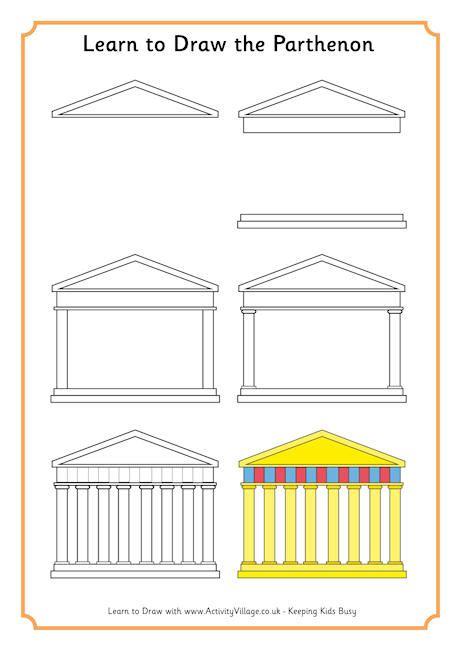 How To Draw The Parthenon learn to draw parthenon