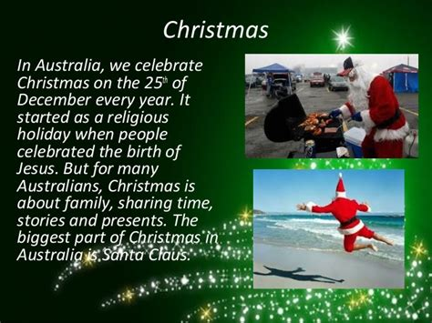 when do they celeldrate chrimesmas australyae week 11 in australia a
