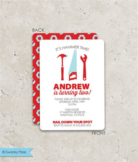 Invitation Design Tool | tools birthday party invitations fun 2 sided design on