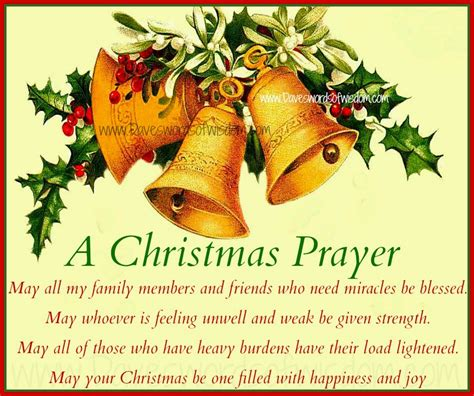 daveswordsofwisdom com a christmas prayer for family and