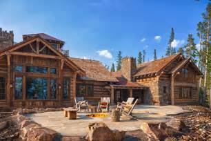 big log cabin homes foxtail residence big sky log cabins by teton heritage