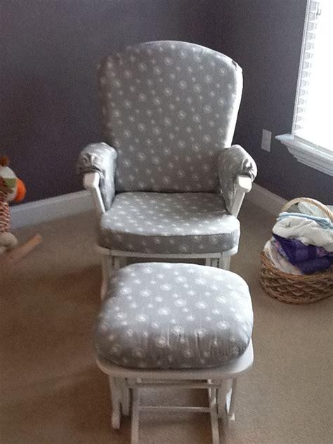 Custom made nursery or home glider rocker chair cushion covers and ot