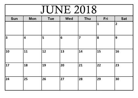 printable calendar june 2018 june 2018 calendar printable template pdf holidays word excel